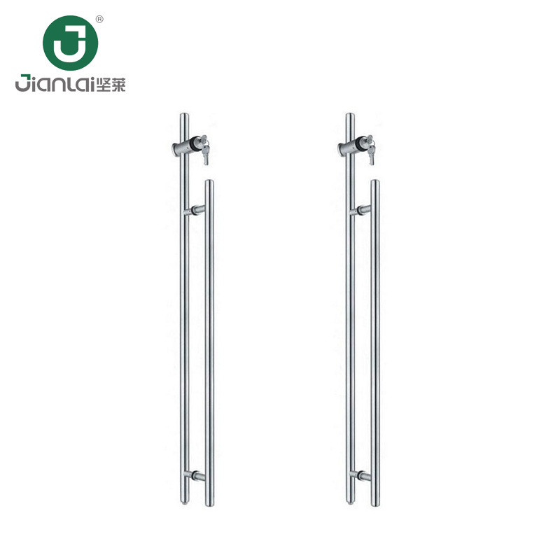 China Security Back To Back Stainless Steel Glass Door Pull Handle