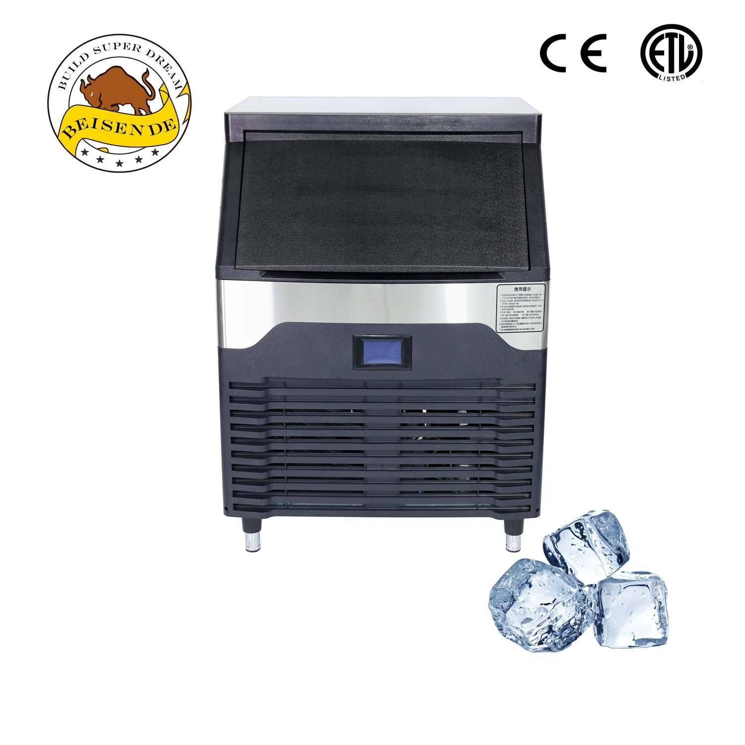 China Timing Cleaning Commercial Industrial Ice Cube Maker Making Machine China Block Ice Maker Ice Maker