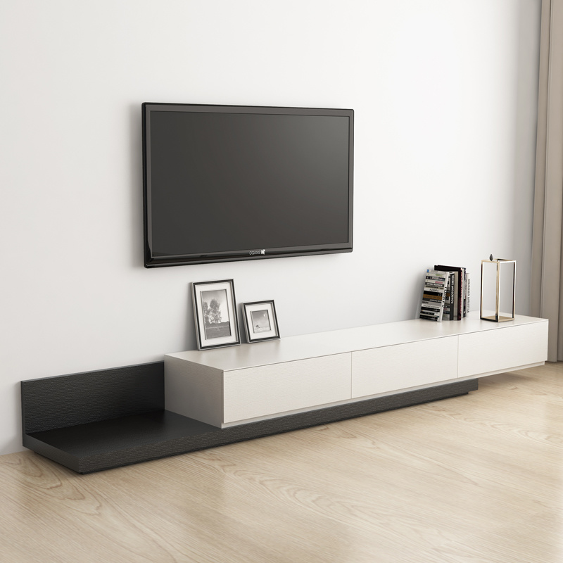 China Wooden Tv Stand, Black Living Room Cabinet