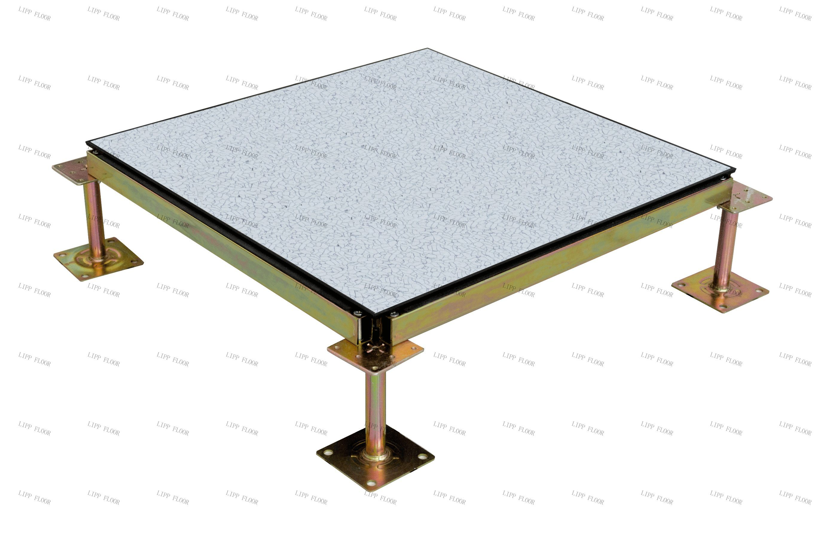[Hot Item] 5*5mm Thickness 5mm 5mm PVC Finish Antistatic Cementitious  Full Steel Raised Access Flooring Tiles