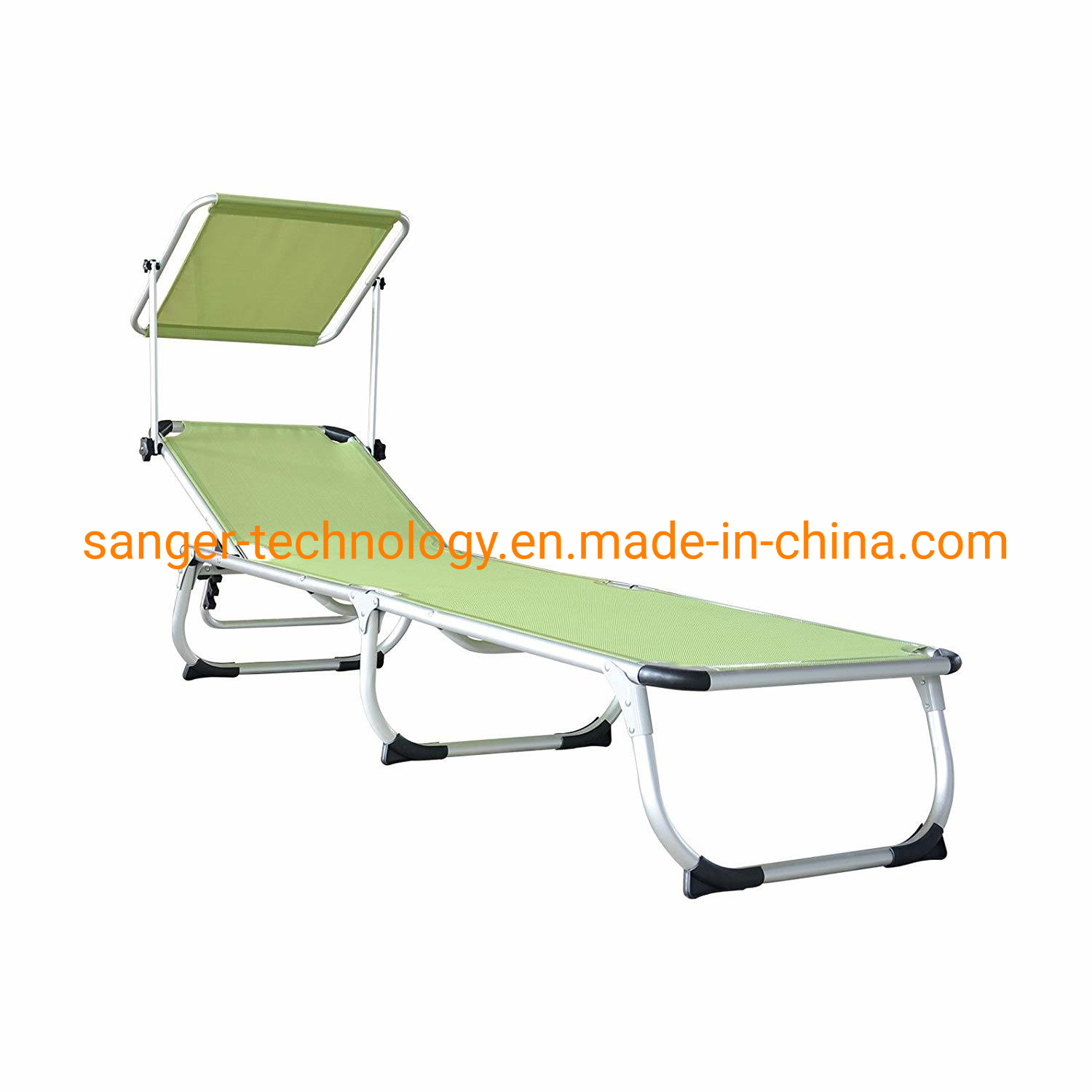 Hot Item Patio Chaise Lounge Chair With Sun Shade Folding Zero Gravity Free Recliner Adjustable Beach Relax Chair For Camping Support 300 Lbs