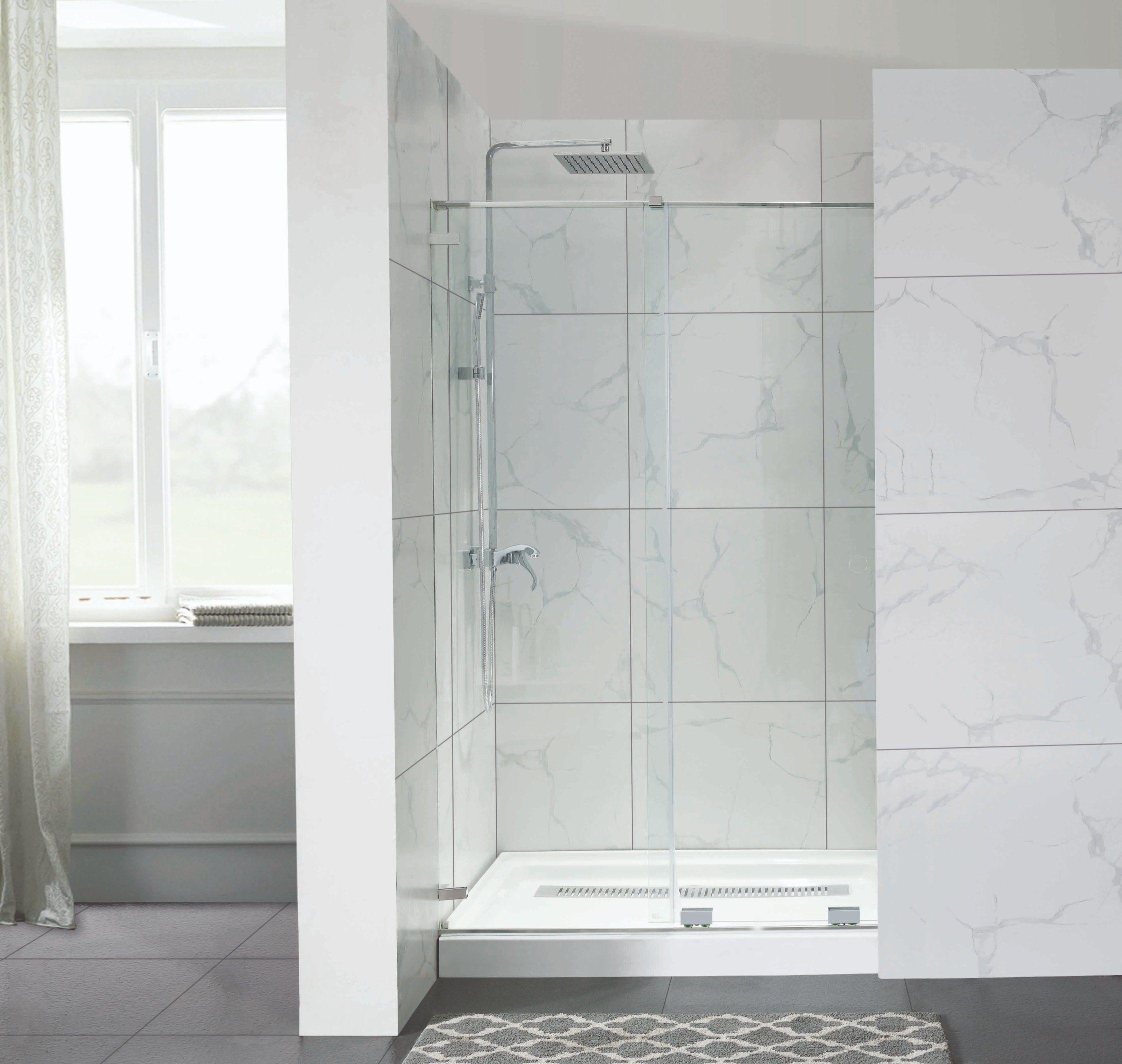 Hot Item Economical Frameless Shower Enclosure Without Top Sliding Header