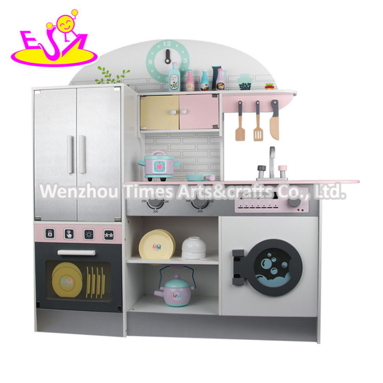 China New Design Wooden Pink Kids Kitchen Set With Low Price W10c479 Photos Pictures Made In China Com