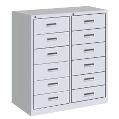 12 Drawer Office Metal Cabinet Sliding Locker