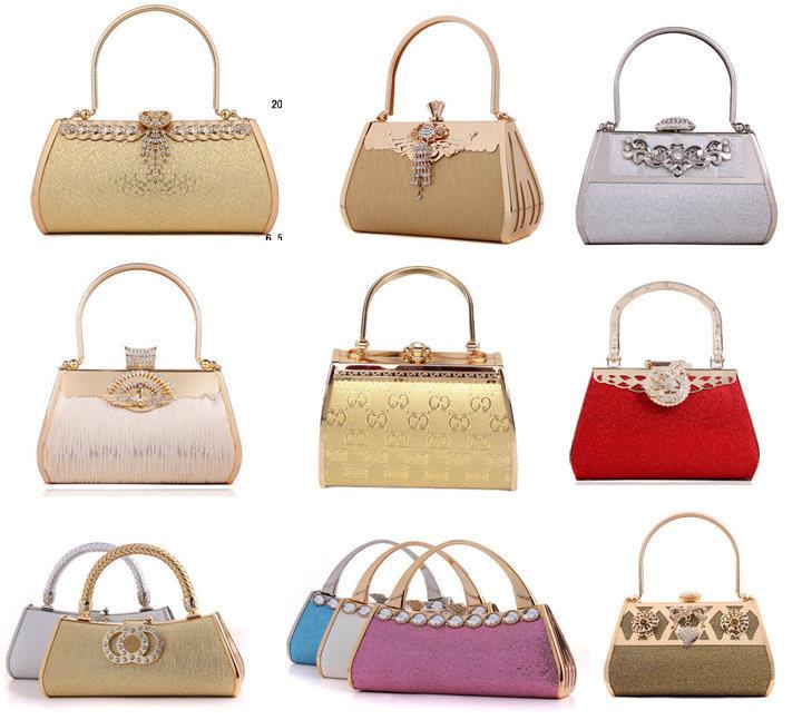 887a392e2ca [Hot Item] Golden Wedding Clutch Bag Bridal Clutch Evening Bag with  Detachable Handle