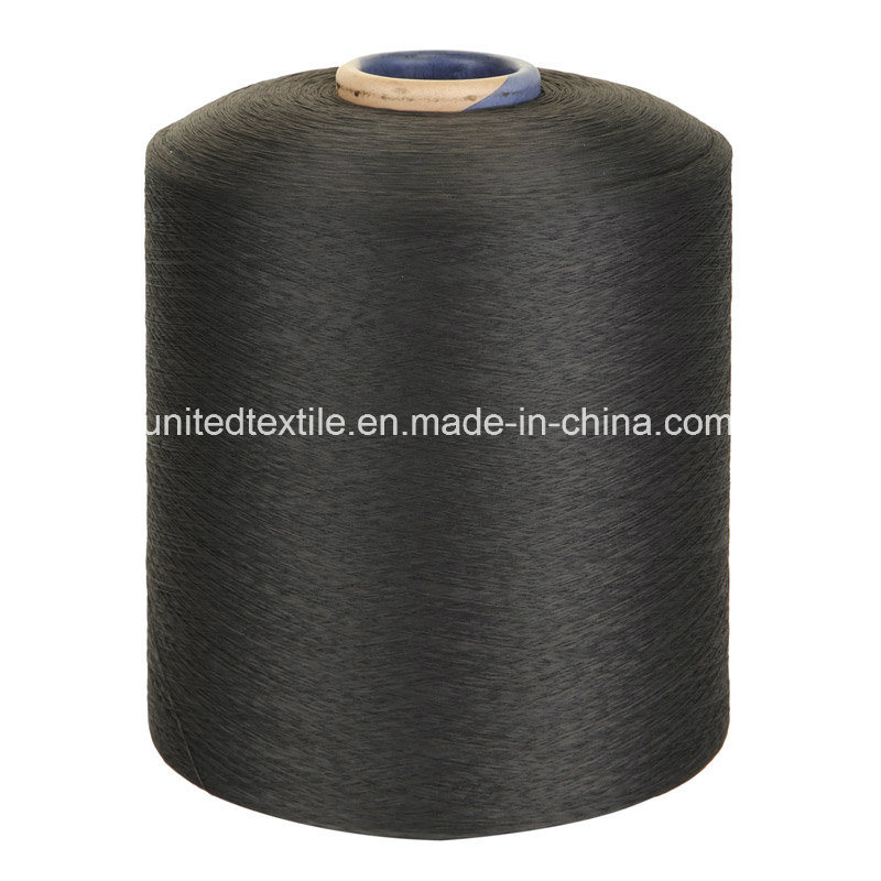 Polyester or Nylon (150d+40d) Spandex Black Air Covered Yarn pictures & photos