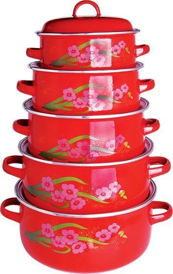 High Quality 6 PCS Set Casserole with Enamel Cover, Dark Colors pictures & photos