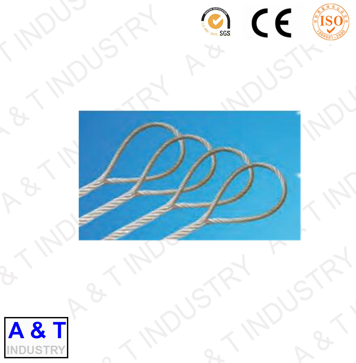 China Rigging Sling Rope Soft, Spliced Wire Rope, Double Loop Rope ...