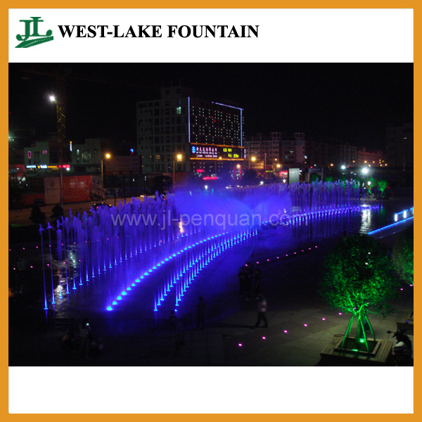 with Colorful LED Lighting and Music Hidden Pool Dry Fountain pictures & photos