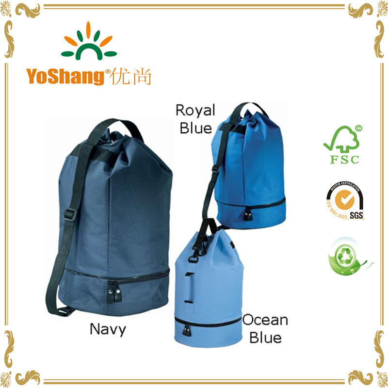 China Colorful Polyester Drawstring Duffle Bag Gym Bags with Shoe ... 5bc867a57091d