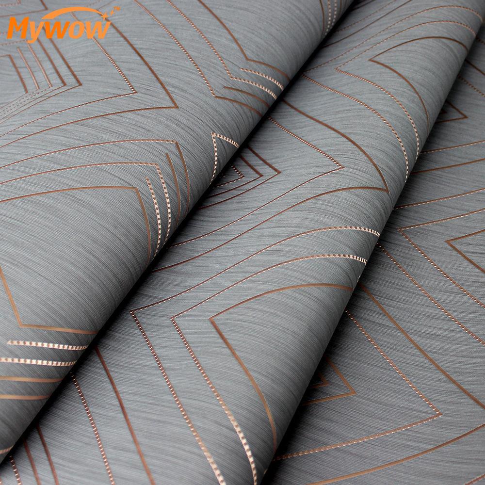 China Metallic Pvc Wall Paper 3d Modern Design Wallpaper Papel De