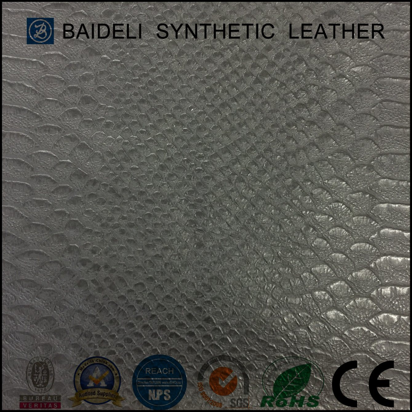 High Quality Snake PVC Garment Leather