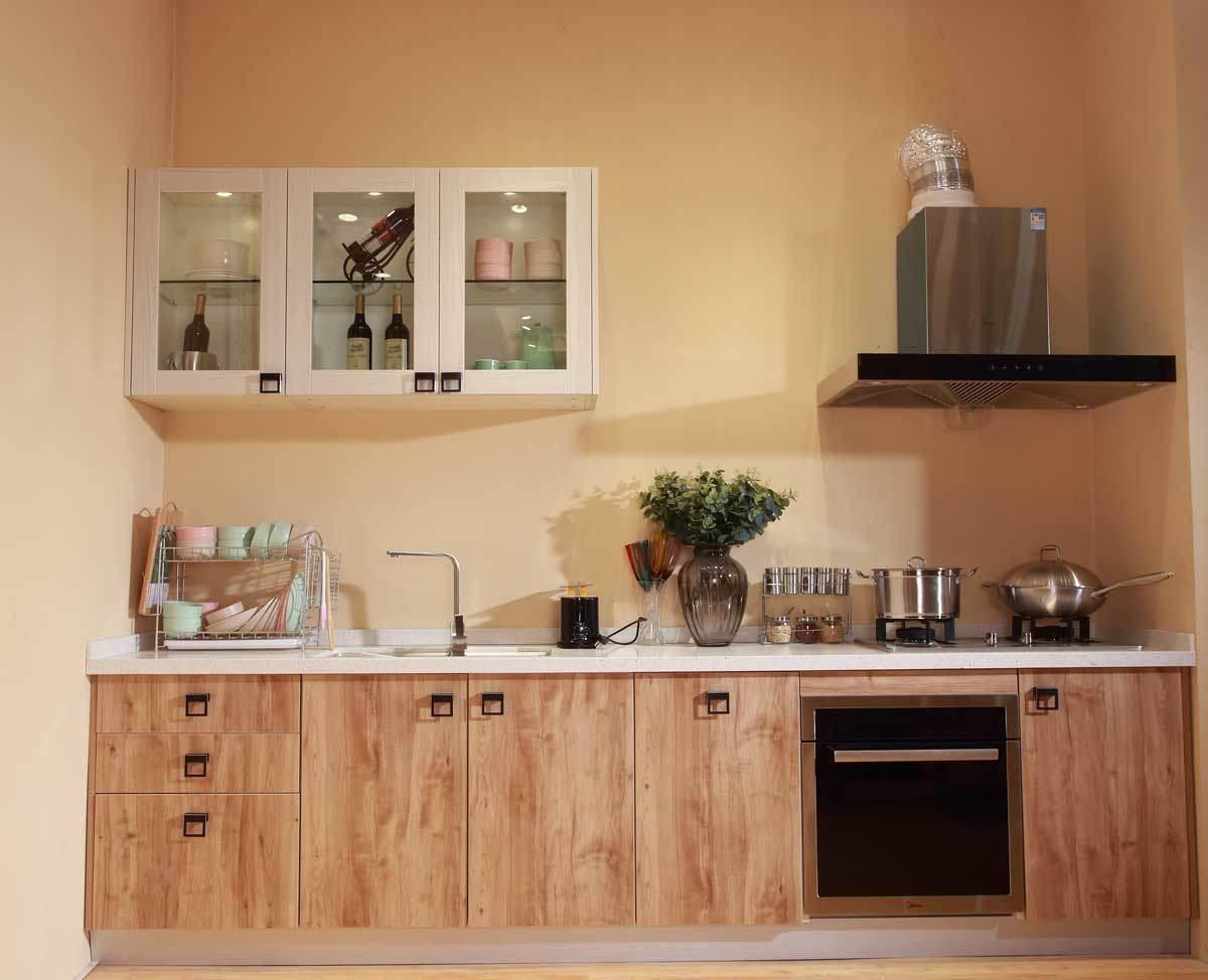 China Factory Customized Melamine Plywood Kitchen Cabinet ...