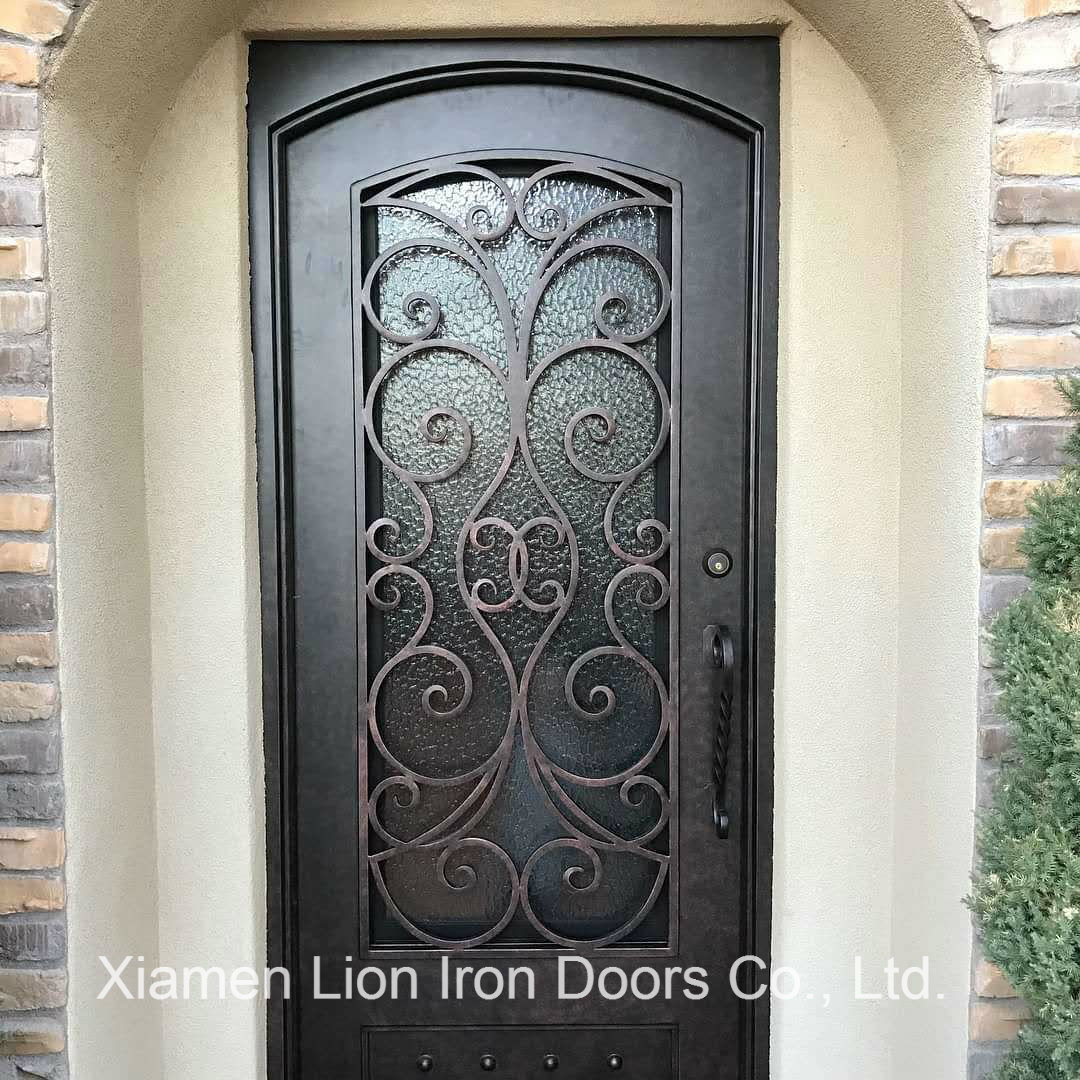 Main Entrance Door Grill: China High Quality Iron Single Door Design Grill Entry