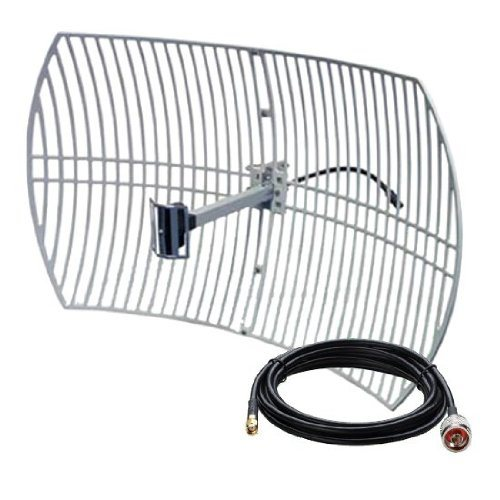[Hot Item] 24dBi WiFi WLAN Wireless Outdoor Long Range Grid Directional  Antenna
