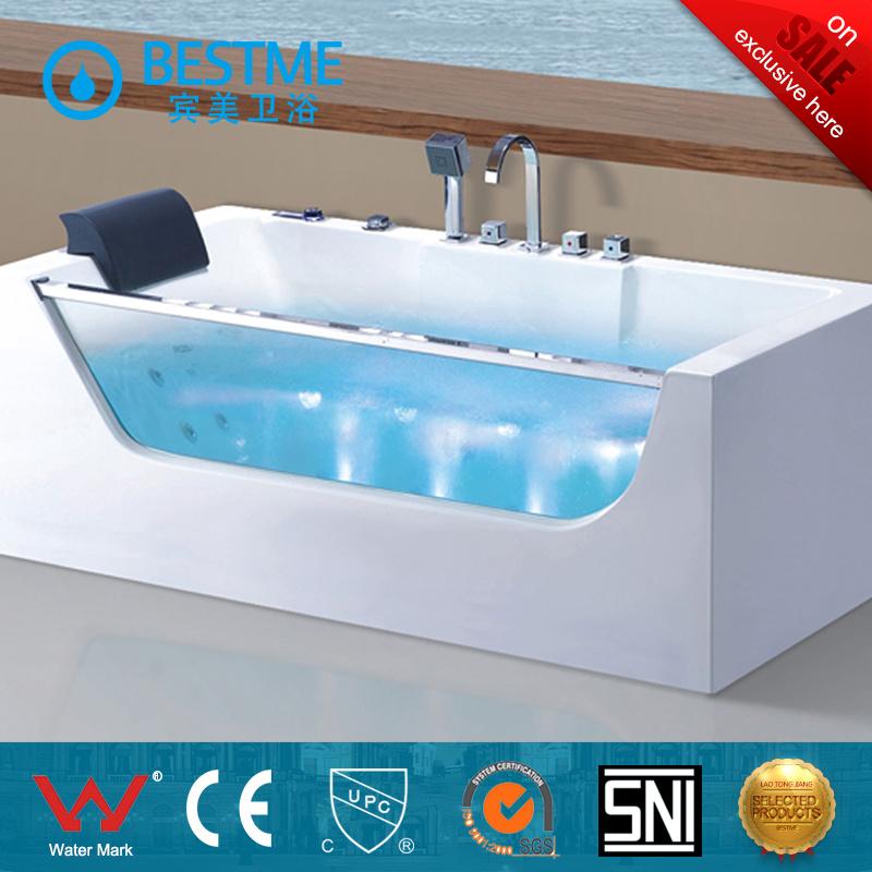 China Simple Design Square Shap Low Price Bathtub with Massage (BT ...
