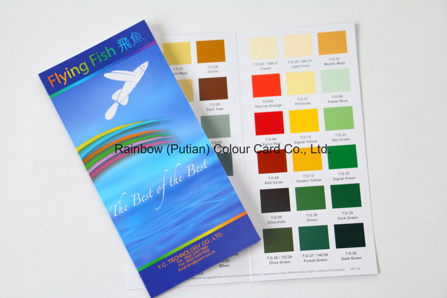 Nice Quality Valuable Art Paper Color Card for Advertisement