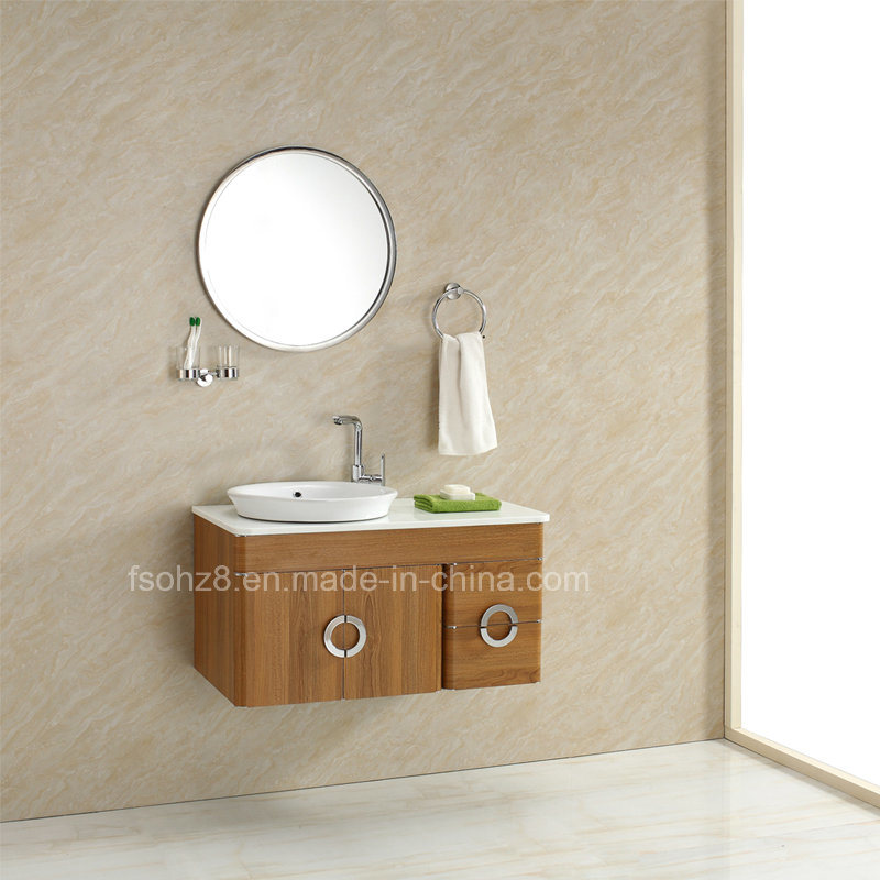 China Large Size Stainless Steel Wall Mounted Bathroom Vanity Cabinet