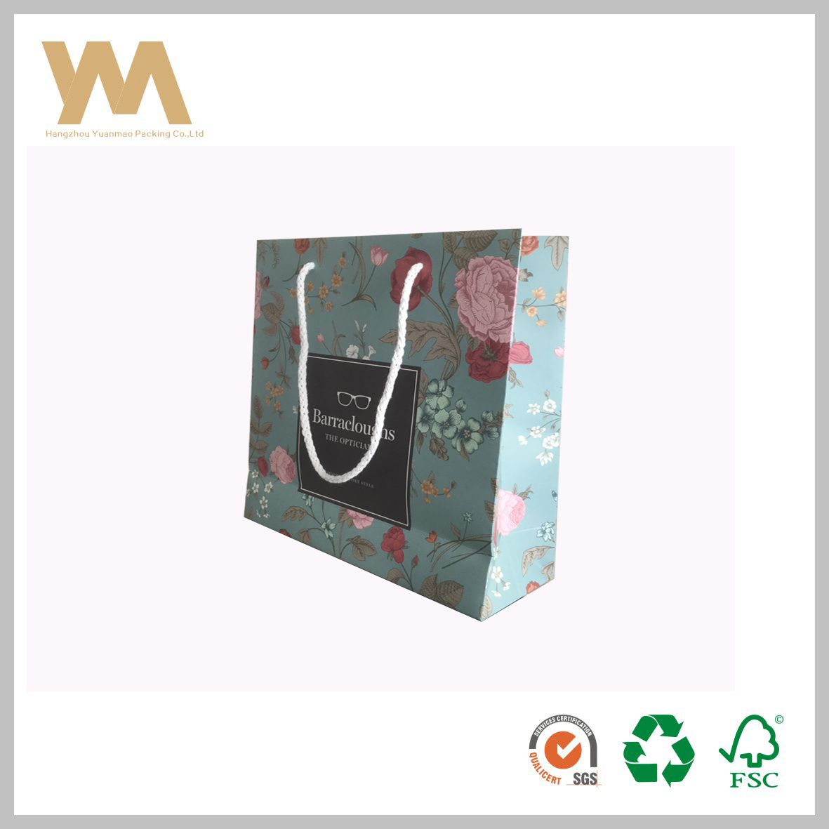 Hot Item Customized Gift Bag Paper Packaging Ping With Printing