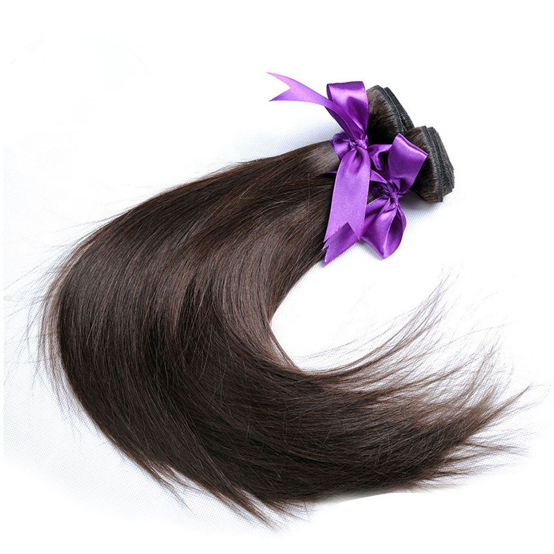 China Brazilian Straight Hair Weave Bundles Color 4 Light Brown Non
