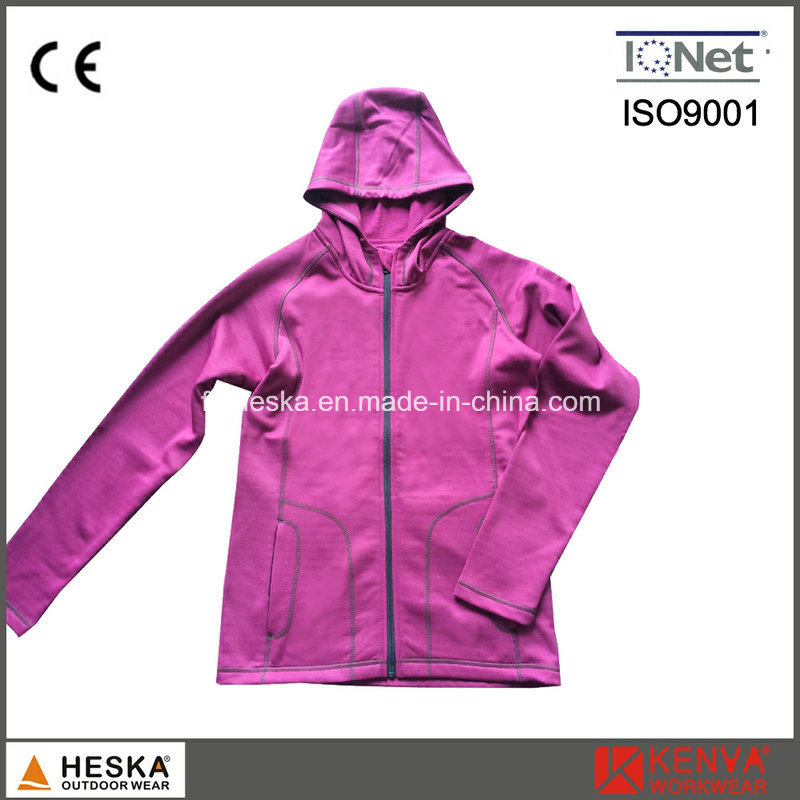Ladies Powerstretch Jacket Hooded Sweatshirt pictures & photos