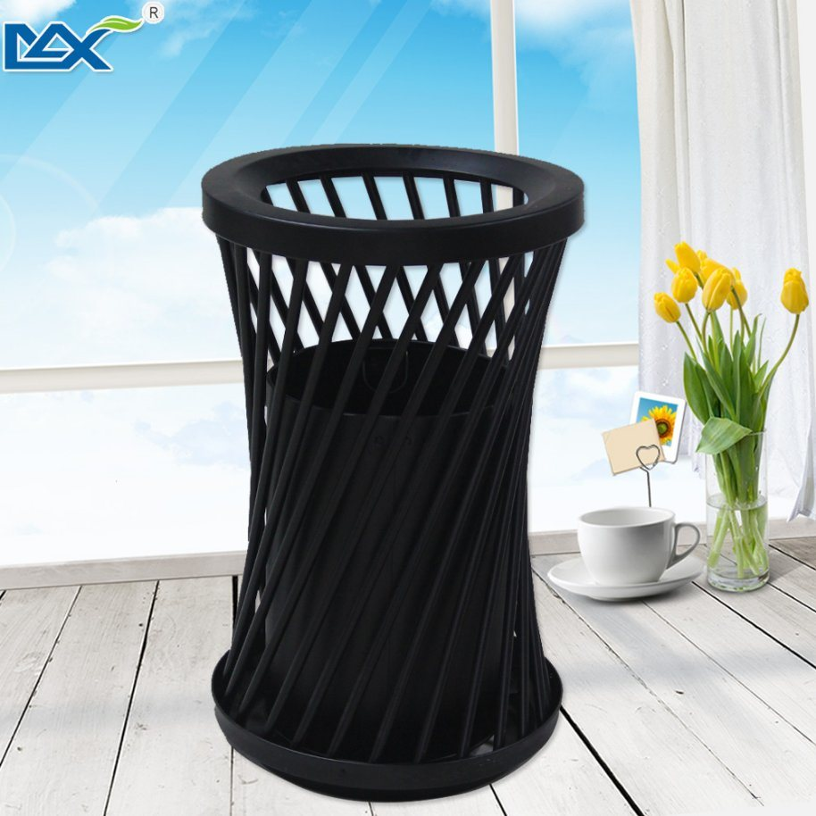 Construction Black Iron Powder Coated Single Steel Wet and Dry Dustbin pictures & photos