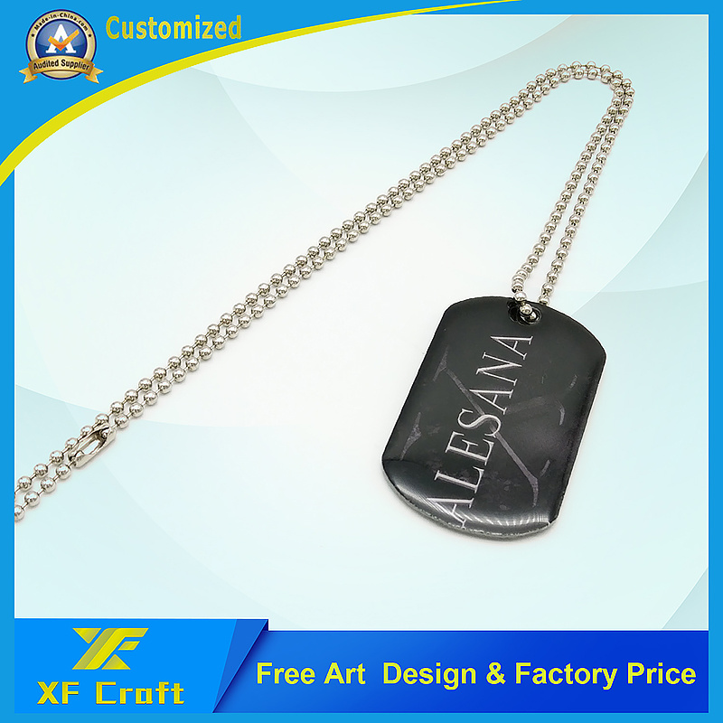 2017 Customized Stainless Steel Metal Printing Dog ID Tag in China Factory (XF-DT04) pictures & photos