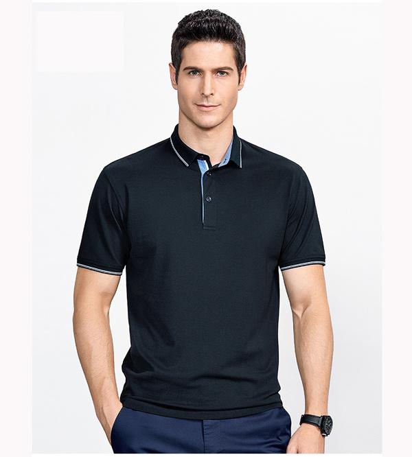 95%Cotton 5%Spandex Polo Shirt