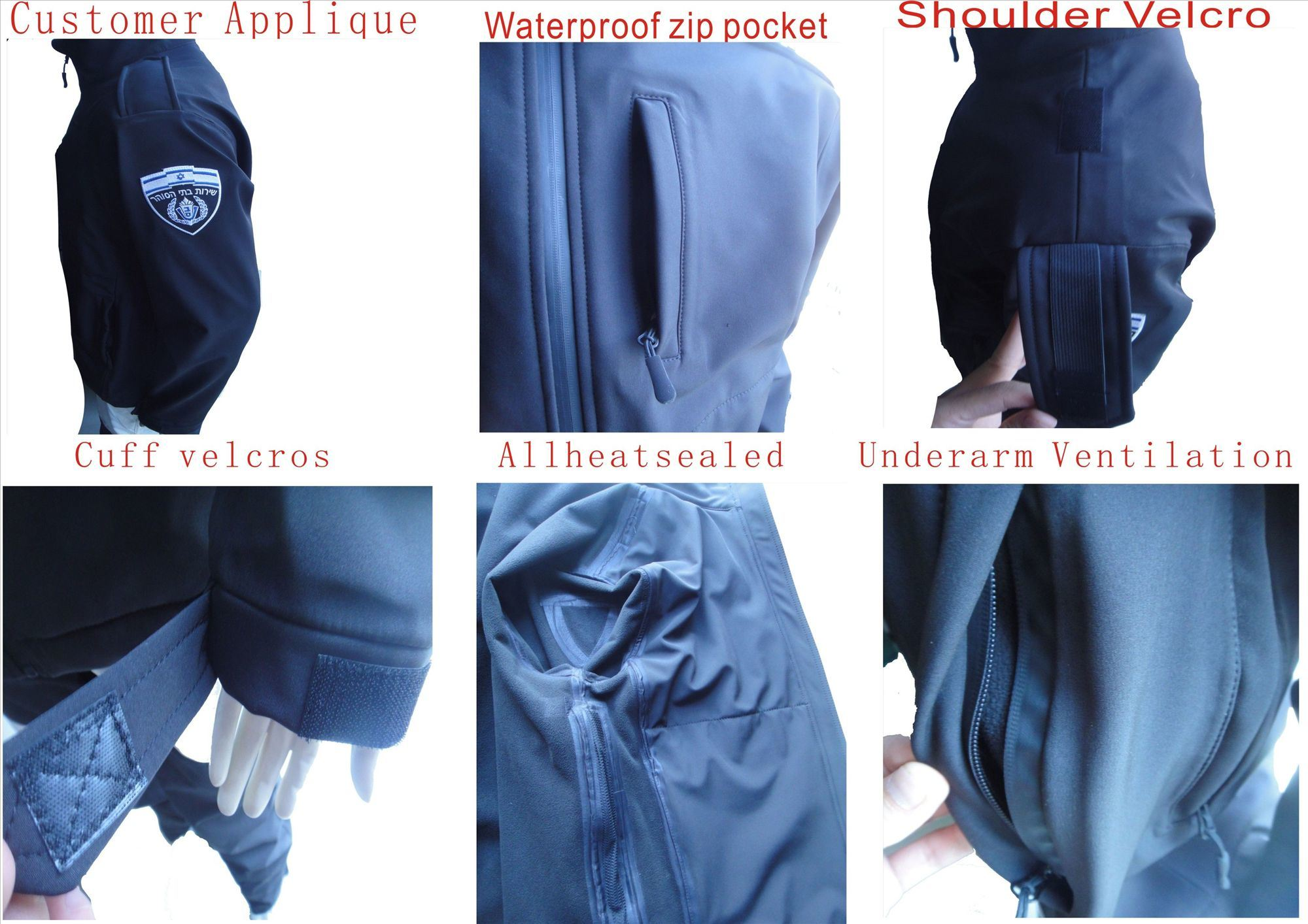 Israel Policemen Waterproof Breathable High Quality Softshell Jacket