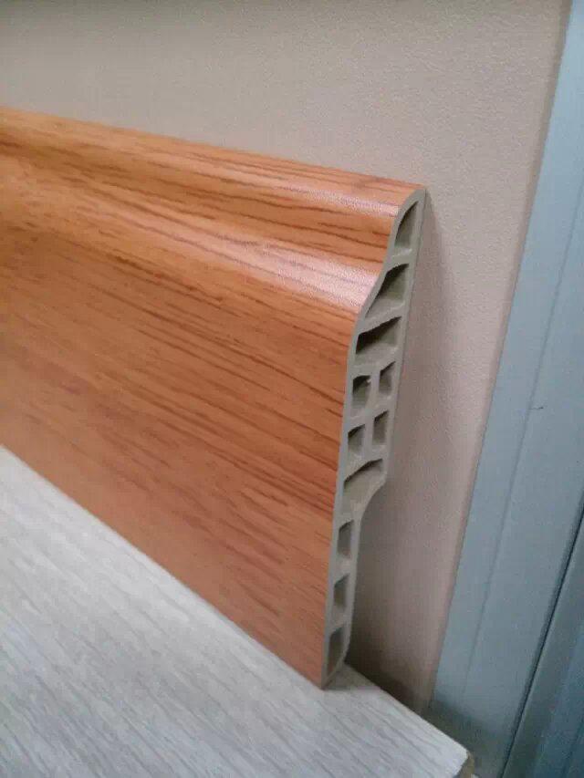 Vinyl Strip Flooring With Laminated Upvc Skirting