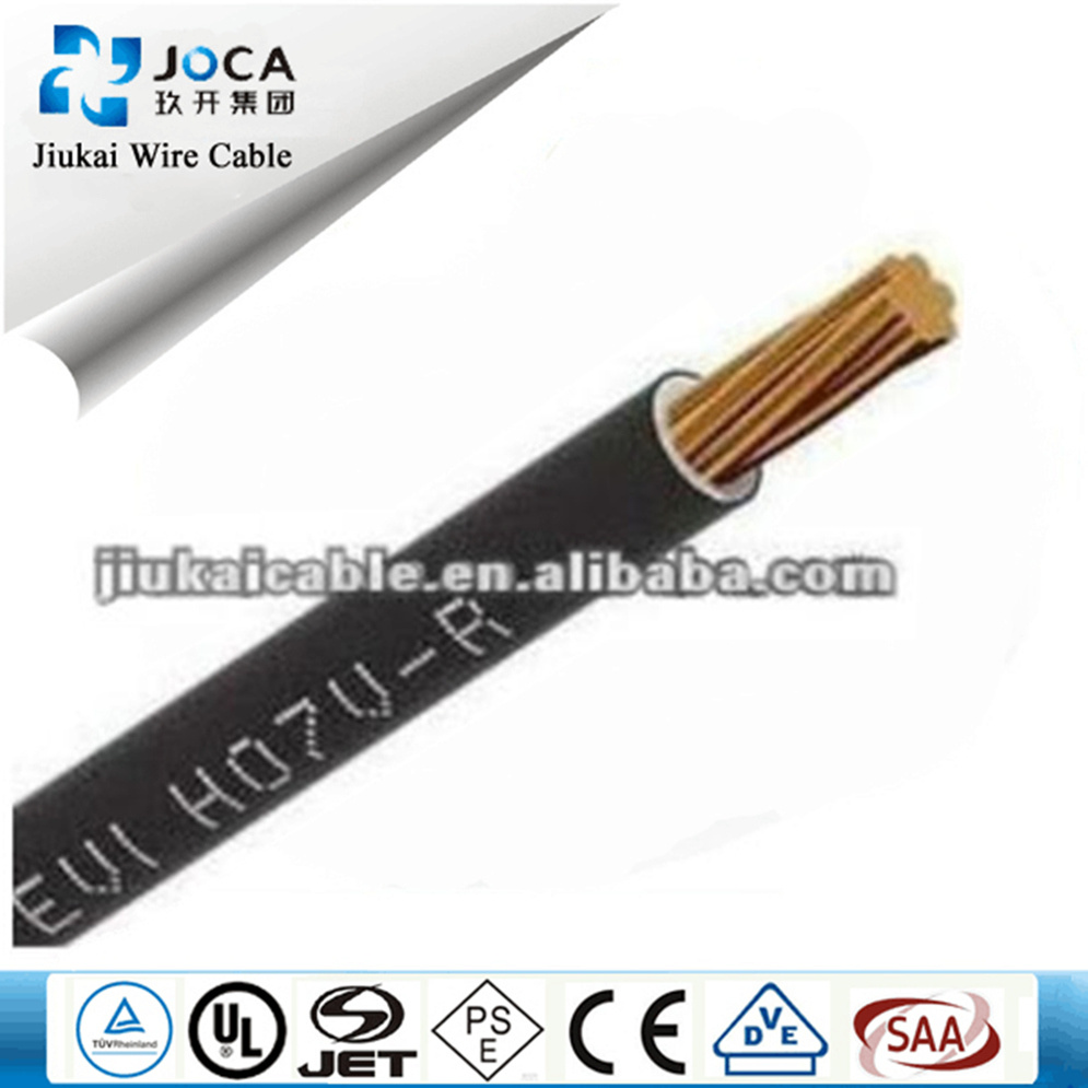 China 25mm2 Pvc Insulated H07v R U H05v F Electrical Wire Heat Resistant Wiring Insulation Cable