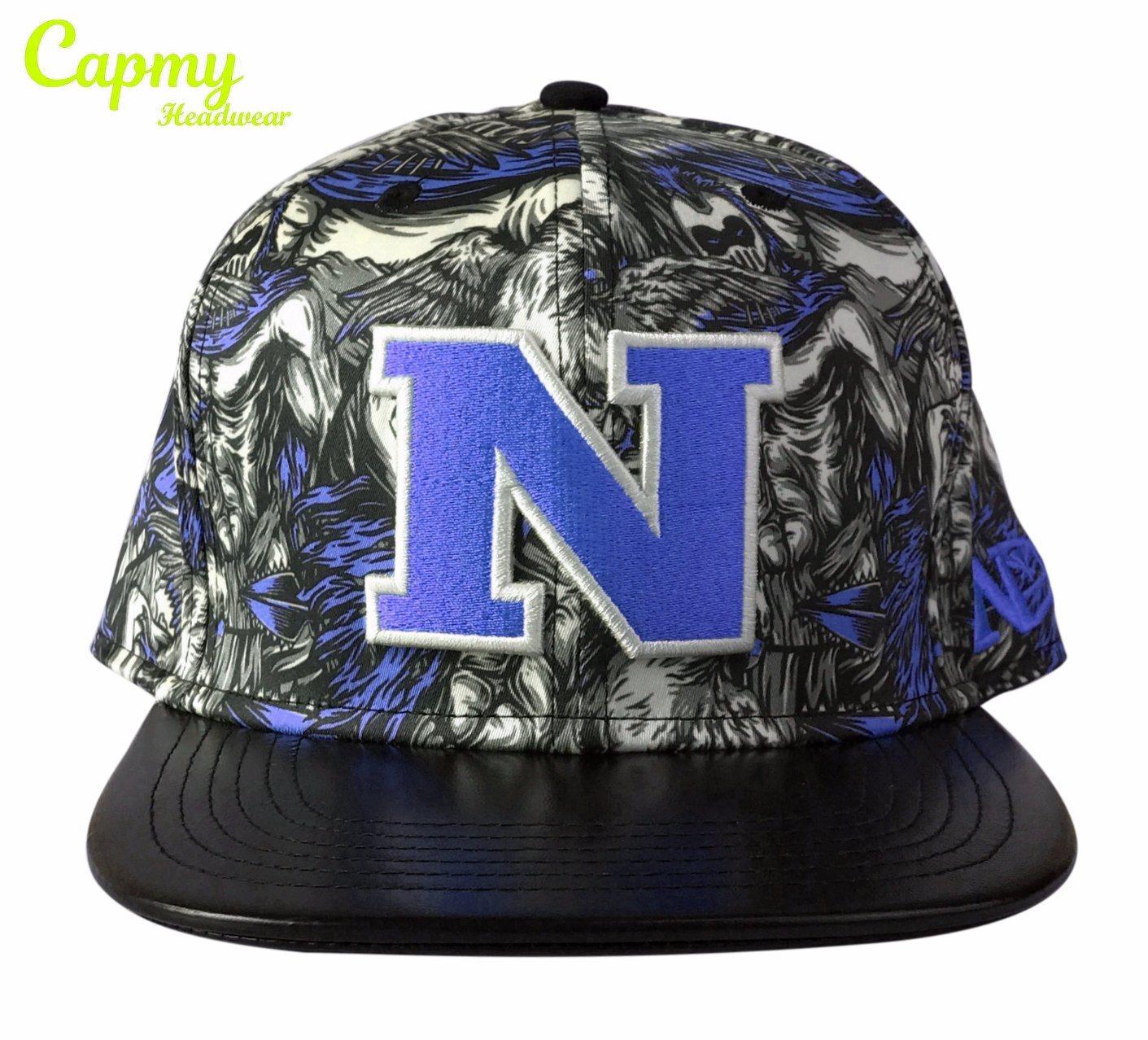 d418b48adcf99 China Fake Leather Brim Cap with 6 Panel Snapback Cap - China Cap ...