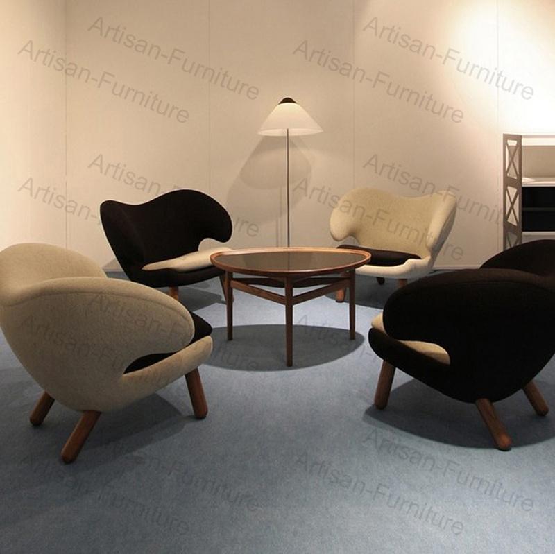 China Replica Finn Juhl Poet Sofa Lover Double Chair Armchair