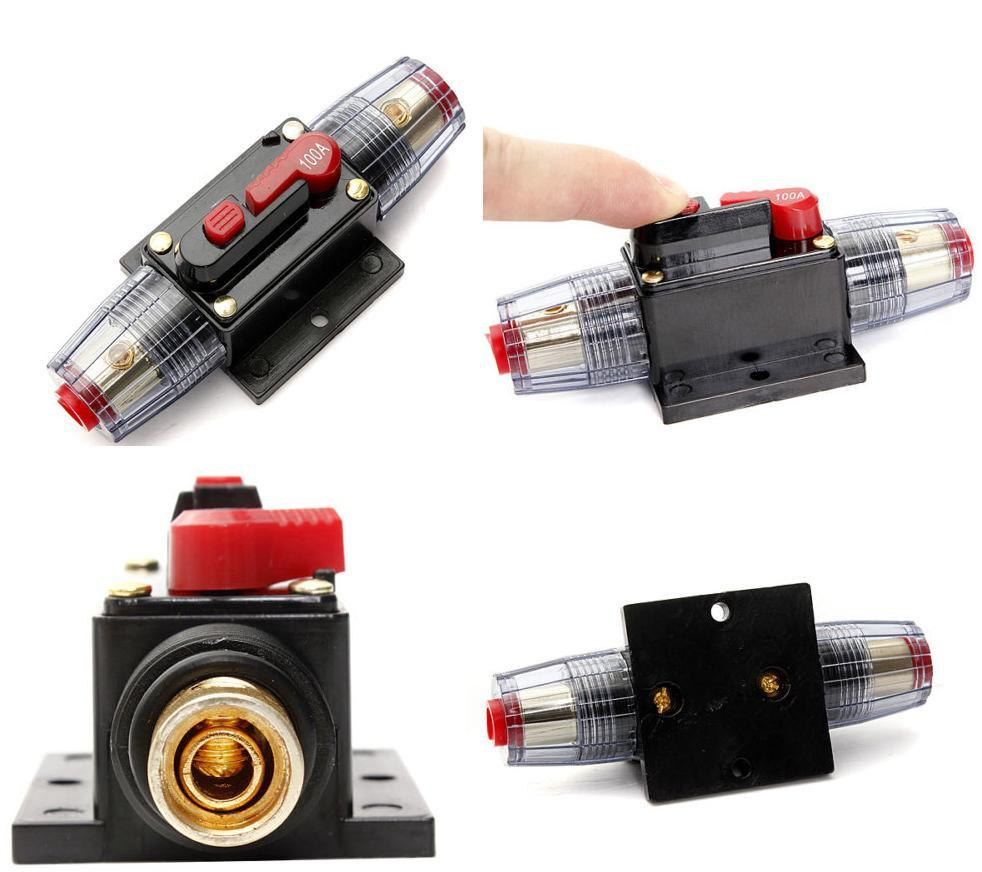 China Car Stereo Audio Current Circuit Breaker With Inline Fuse Breakers Stud Mount Auto Reset Automotive Protector