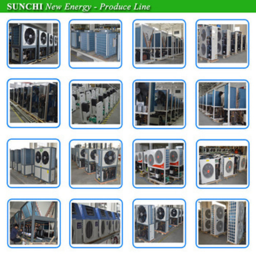 Cold -25c Winter Floor Heating + 55c Hot Water 25kw Underground Glycol Circle Loop DC Inverter Geothermal Heat Pump Package Unit
