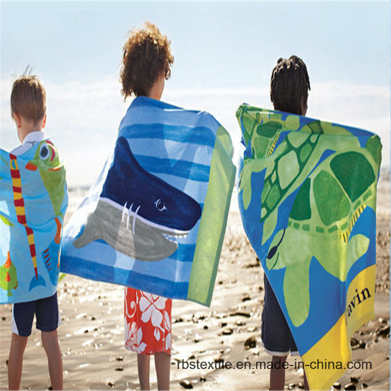 Kid′s Printed Velour Bath Towel Beach Towel in Good Design pictures & photos