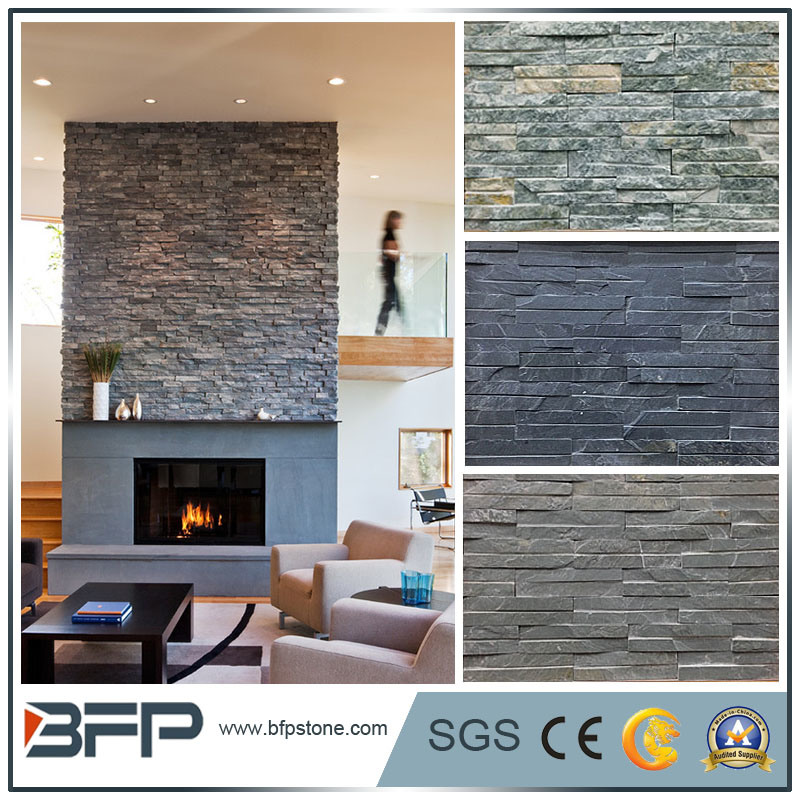 China Black/Grey/Yellow/Rusty Natural Stone Slate Floor Tile for ...
