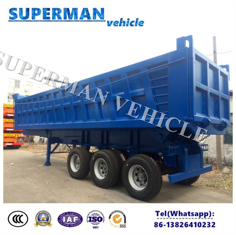 Three Axle Hydraulic Cylinder Dump Truck/Tipper Rear Dumper Truck Trailer