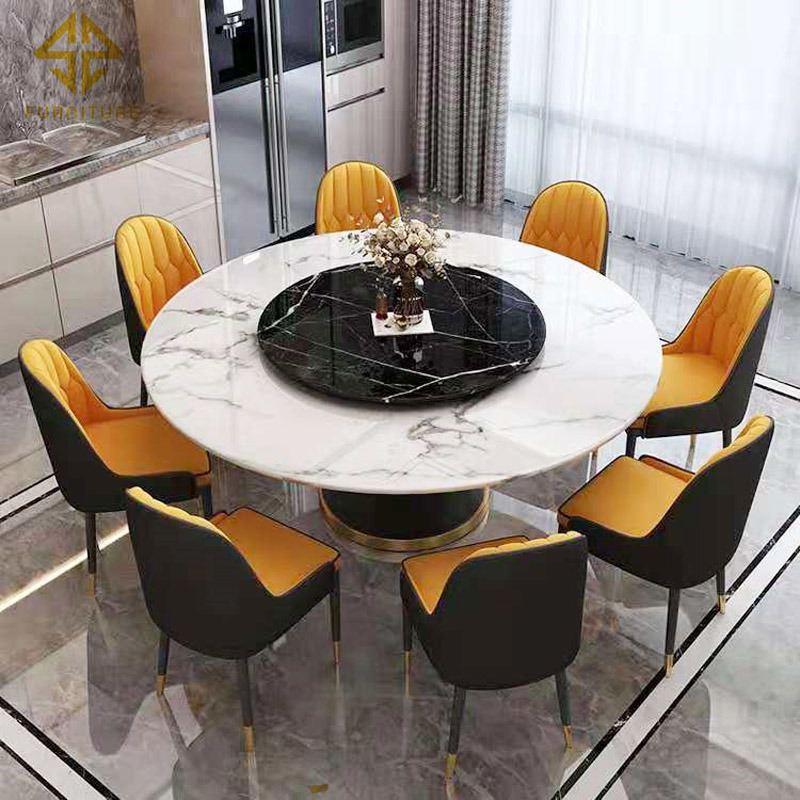 4 Luxury Marble Dining Table Sets, Italian Contemporary Dining Room Sets