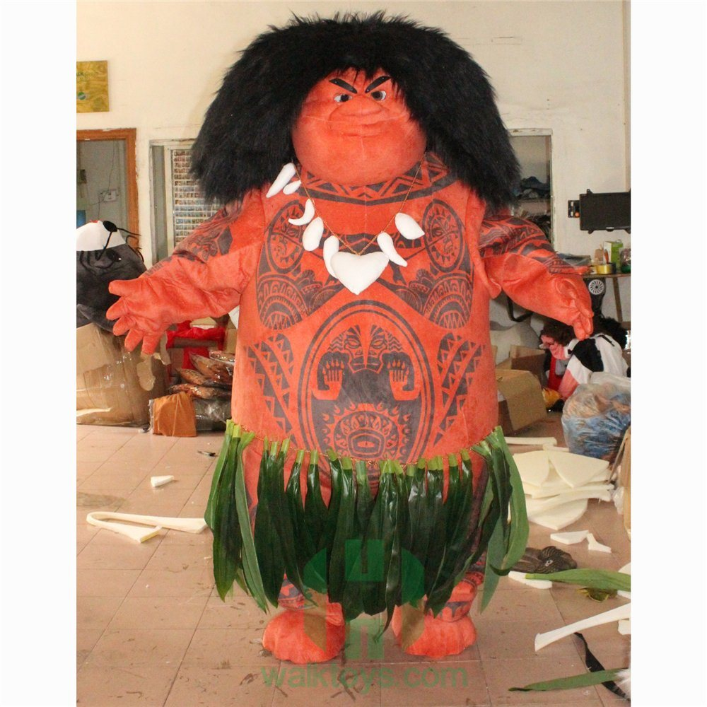 China Halloween Cosplay Plush Custom Cartoon Character Mascot Maui Costumes Lyjenny In Movie Moana For Adults And Kids For Party China Mascot Costume And Costume Price