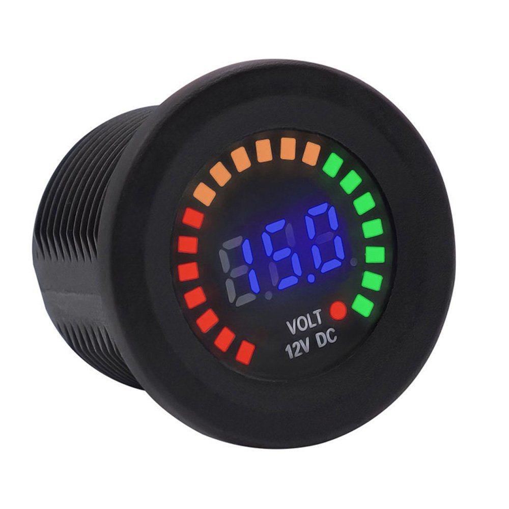 12V Waterproof Tester Volt Gauge,12V 24V Volt Meter LED Digital Display DC Voltmeter Voltage Meter for Car Motorcycle Truck Boat Marine