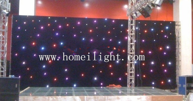 Colorful 3*8m RGB Tricolor Star Curtain with CE for Stage Performance and Party pictures & photos