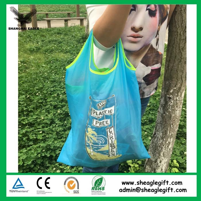 Reusable Nylon Polyester Folding Shopping Bag Tote Bag pictures & photos
