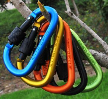 D Shaped Locking Rock Climbing Carabiner pictures & photos