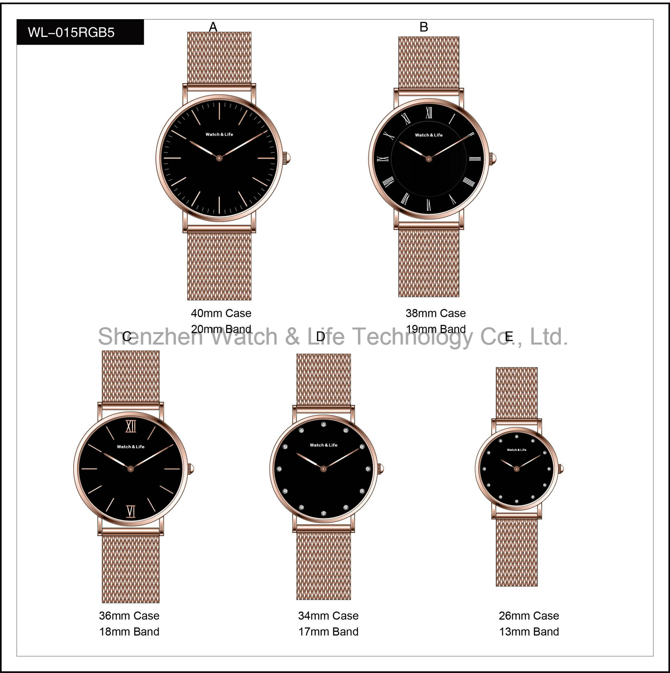 mesh johan ros gold product strap men watches oblique blue rose for