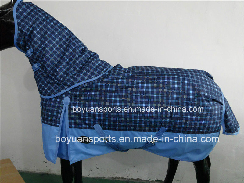 2018 New Design 600d Waterproof and Breathable Winter Horse Rug with Detachable Neck Cover pictures & photos