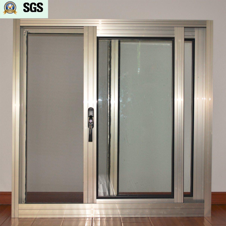 China Dark Handle With Key Anodized Aluminum Alloy Sliding Window Mosquito Net K01070