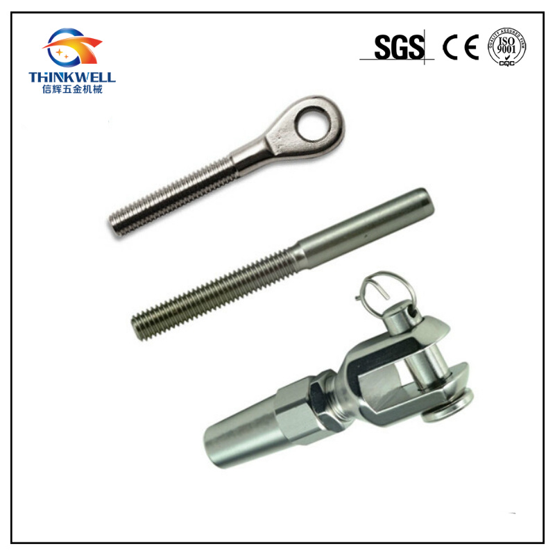 China Stainless Steel Swage Sockets Thread Terminal Wire Rope Clip ...