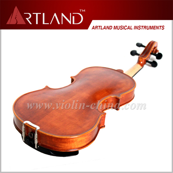 Top Sale Ebony Fitting Solid Wood Student Violin (GV104H) pictures & photos