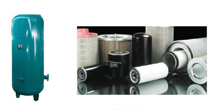 Twin Rotary Screw Air Compressor Filter Parts